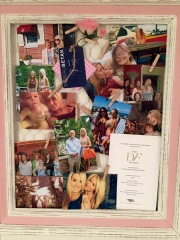 Memory Board- Photo or memento collage displayed on a chicken wire frame. Not into DIY don't worry that is what Easy is for! Just attach your memories!
