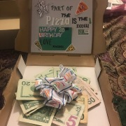 Teen Boys - They don't want anything... Until they see a pizza box filled with cash! This easy gift is sure to please!